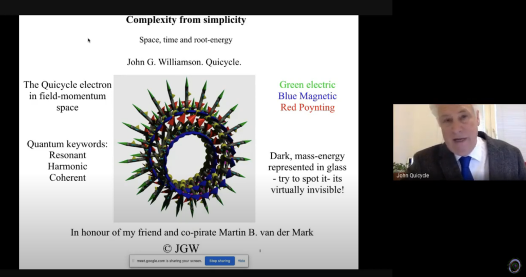 QC0001: John G. Williamson: Complexity From Simplicity, Part 1
