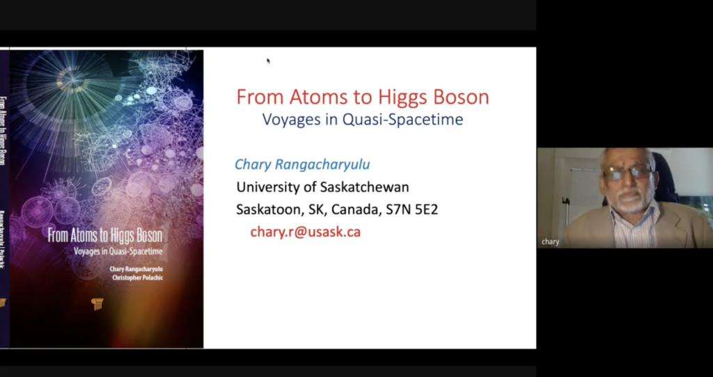 QC0089: Dr. Chary Rangacharyulu: From Atoms To Higgs Boson