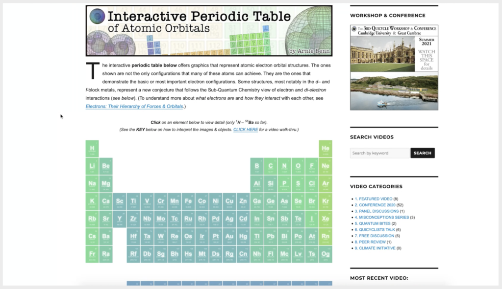 QV0108: Atoms & The Periodic Table: An Interactive Introduction